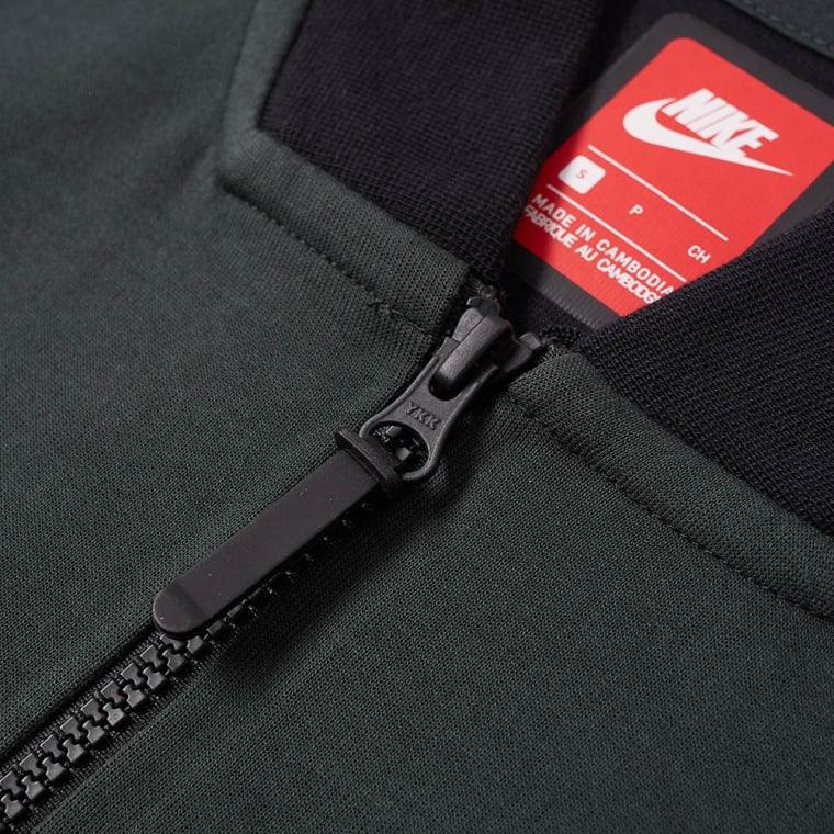 2e4bfdb07cc4 ... Nike Tech Fleece Varsity Jacket Outdoor Green Heather   Black END