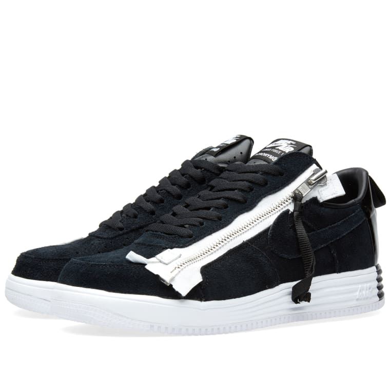 official photos 81285 49635 ... italy nike x acronym lunar force 1 sp black white 1 9f6c0 6c6fa