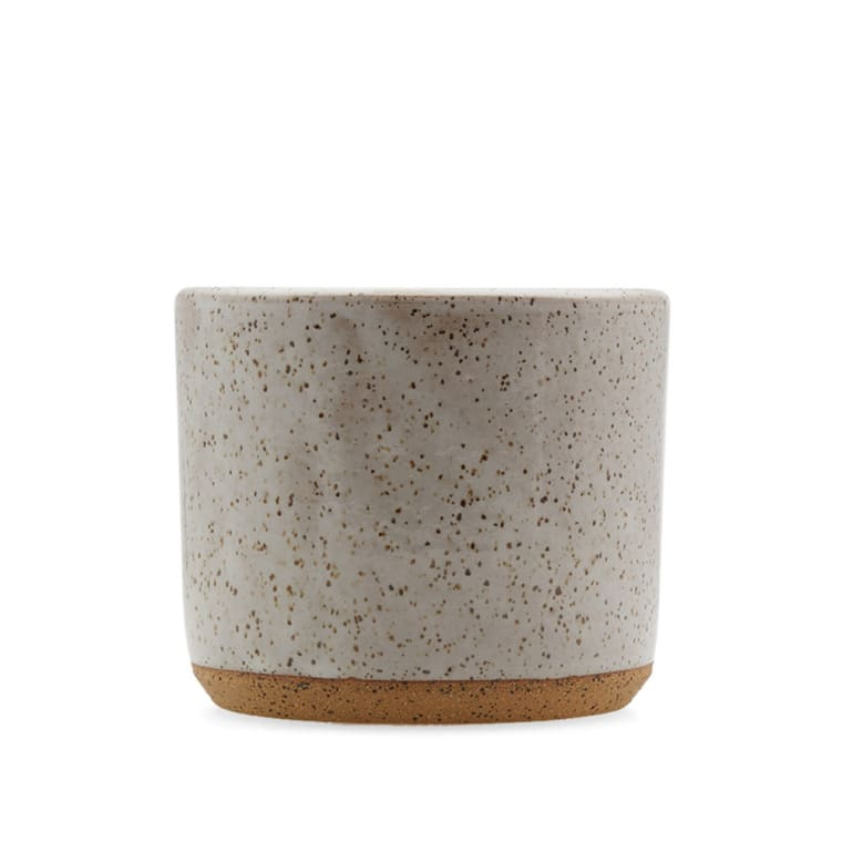 Norden Goods 5 Quot Stoneware Planter White Speckle End