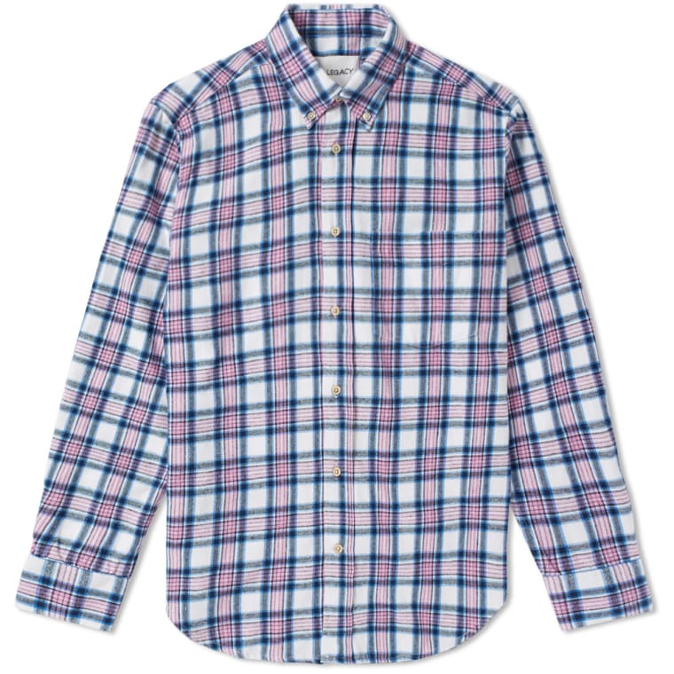 Our Legacy SPLASH Original Checked Shirt (Pink Blue Check) | END.