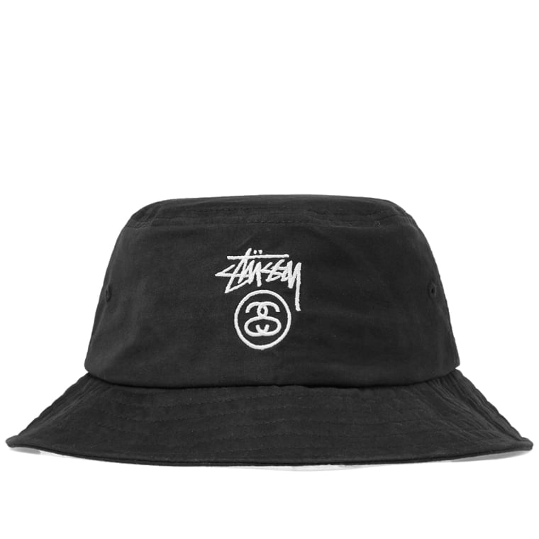 a556308029c ... authentic stussy stock logo bucket hat black 1 f50ed 7d16d