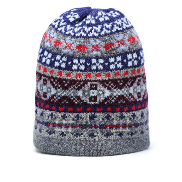 Jamieson's of Shetland Fairisle Hat (Admiral Navy) | END.