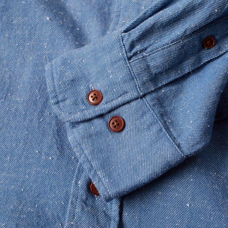 GANT Rugger Indigo Twill Shirt Blue Slub 2