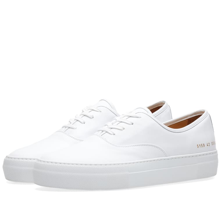 White Tournament leather sneakers Common Projects