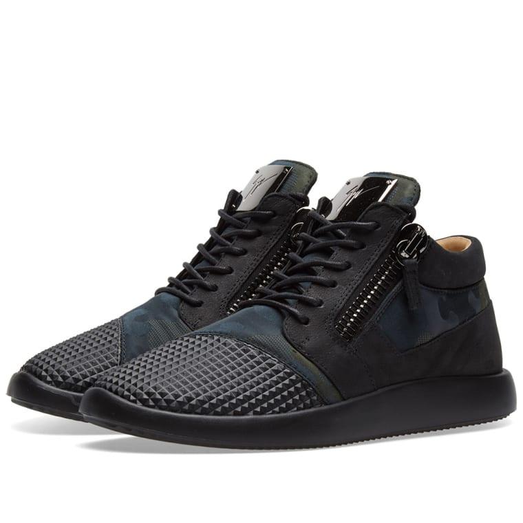 Runner mid-top sneakers - Black Giuseppe Zanotti