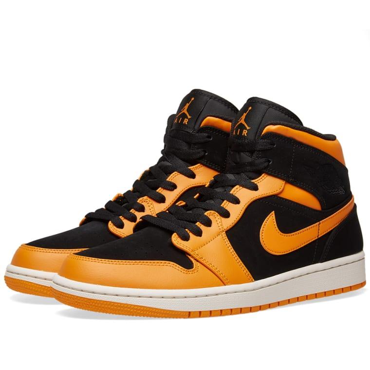 brand new ee187 532a9 ... france air jordan 1 mid black orange peel sail 1 8cb76 ba206