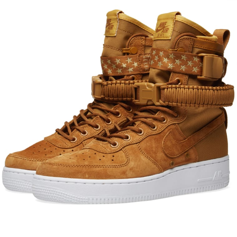 premium selection 5150c dad5b Nike SF Air Force 1 W Muted Bronze, White  Wheat 1