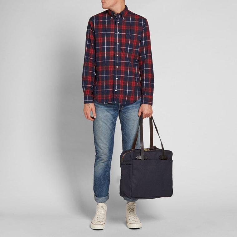 Filson Zip Tote Bag Navy 9