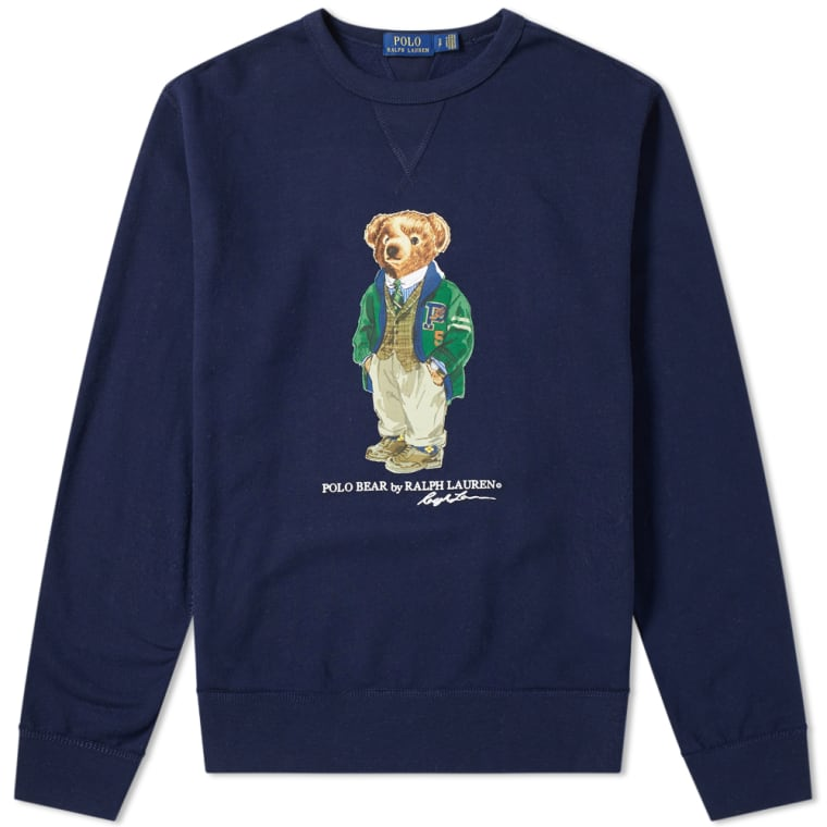Polo Ralph Lauren Bear Crew Sweat  Cruise Navy  1