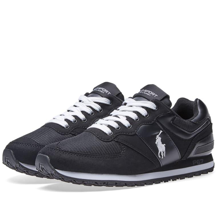 Polo Ralph Lauren Slaton Pony Sneaker Black \u0026 White 1