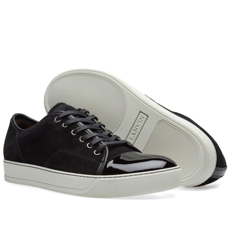 toe cap sneakers - Black Lanvin