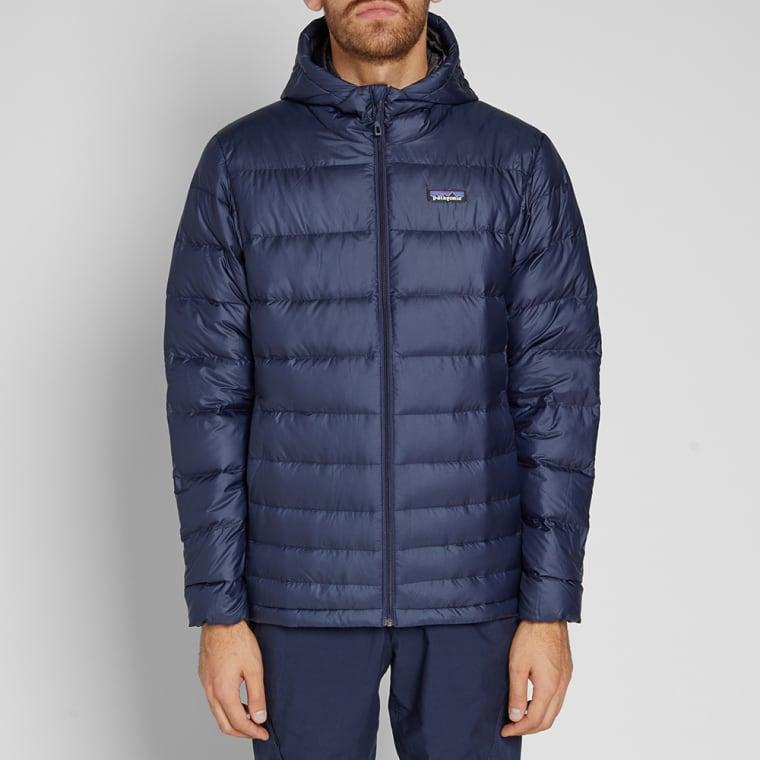 Patagonia Hi-Loft Down Sweater Hoody (Navy Blue)