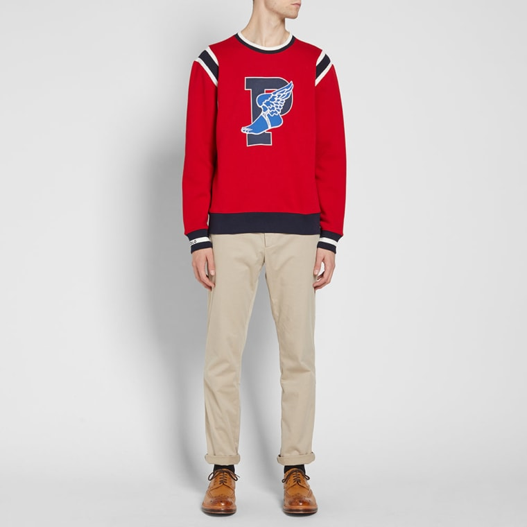 70740d4dd promo code for polo ralph lauren stadium p wing crew sweat ralph red 7  56c92 dedc5