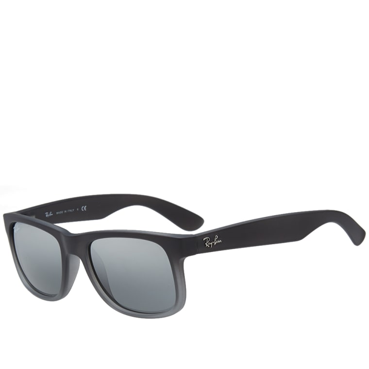 0729b8b0c3 Ray Ban Justin Sunglasses (Grey Rubber   Grey Mirror)