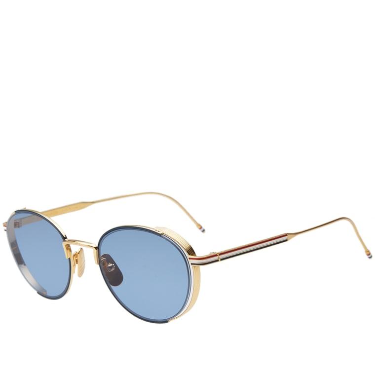 d34d9c1d9ab Thom Browne Tb 106 Sungles Navy 18k Gold Dark Blue 1