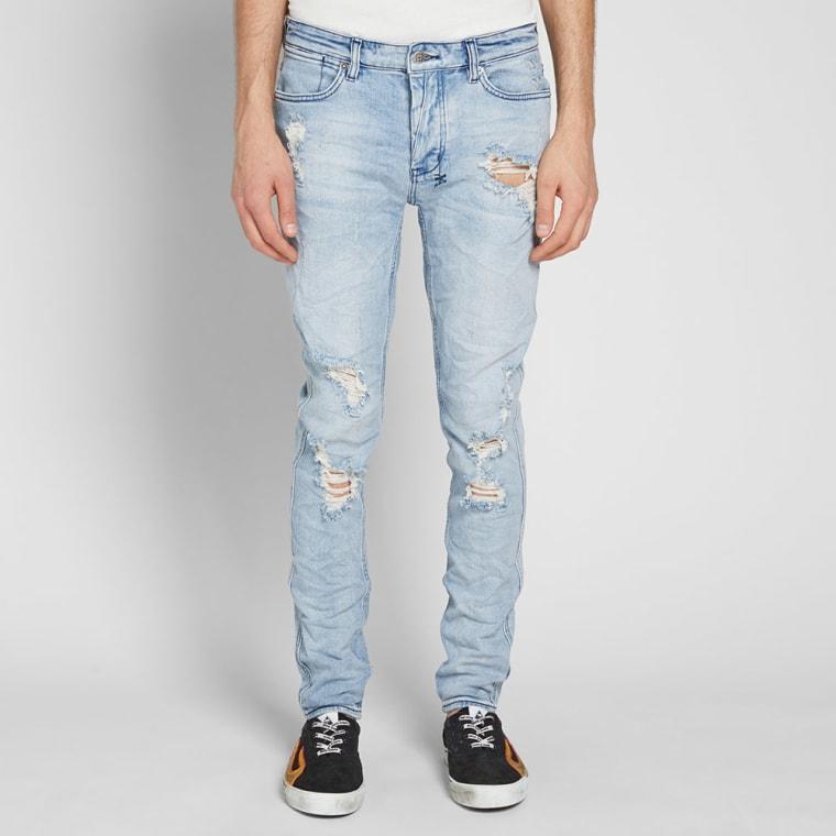9335a5a08a Ksubi Van Winkle Trashed Dreams Skinny Jean (Blue)