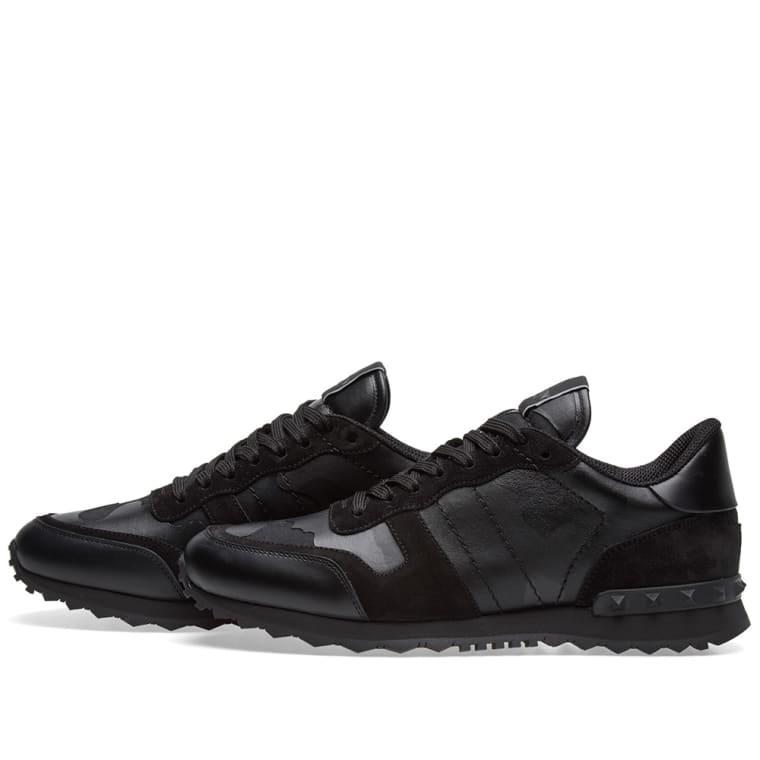 49f66ea7854782 Valentino Rockrunner Sneaker (Metallic Black Camo)
