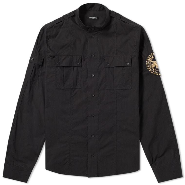 Balmain Sahara Military Shirt (Black) | END.
