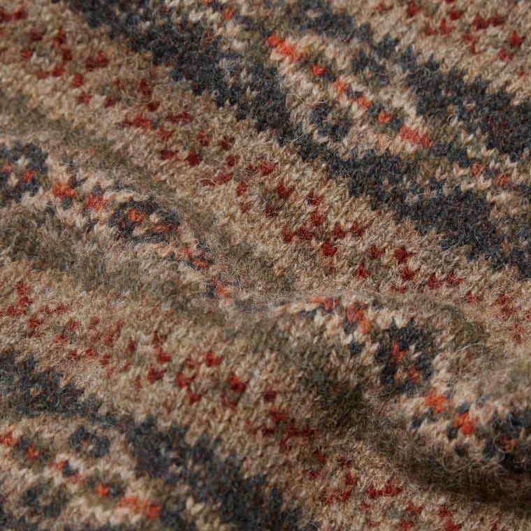Jamieson's of Shetland Jacquard Fair Isle Crew Knit (Khaki) | END.