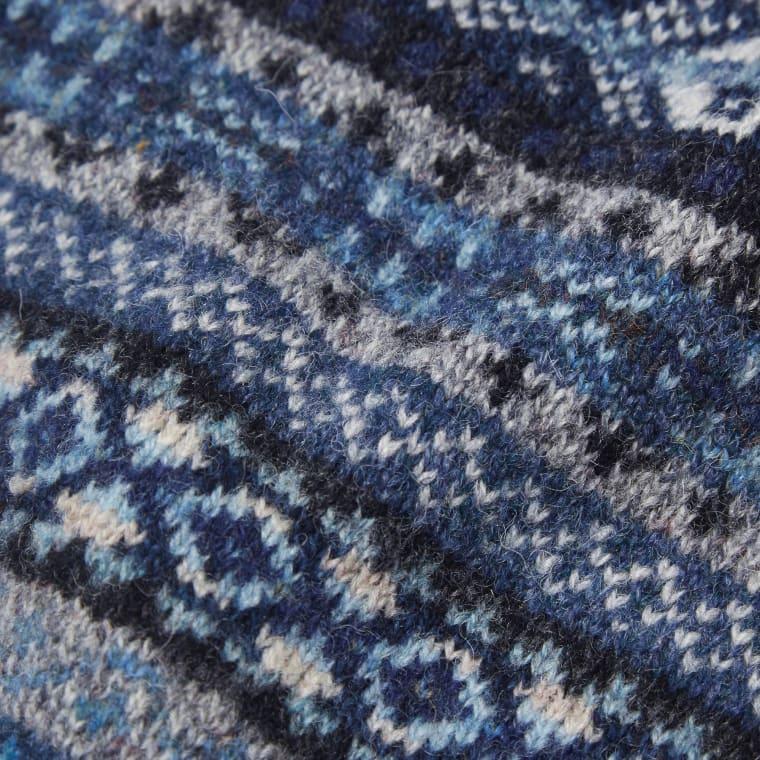 Jamieson's of Shetland Jacquard Fair Isle Crew Neck Knit (Denim ...