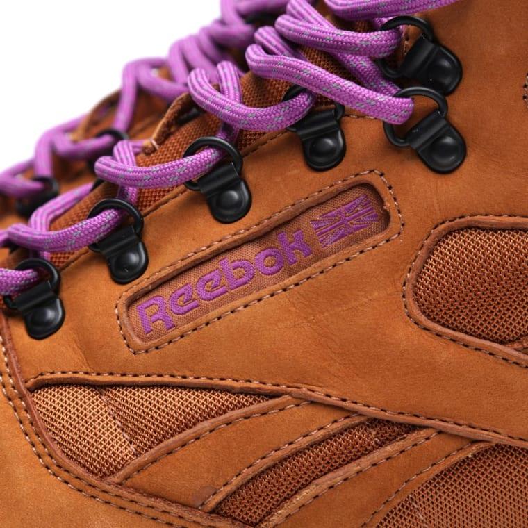 Reebok x Foot Patrol Classic Leather Mid  On The Rocks  Brown Malt   Purple 3a200e4cbe30