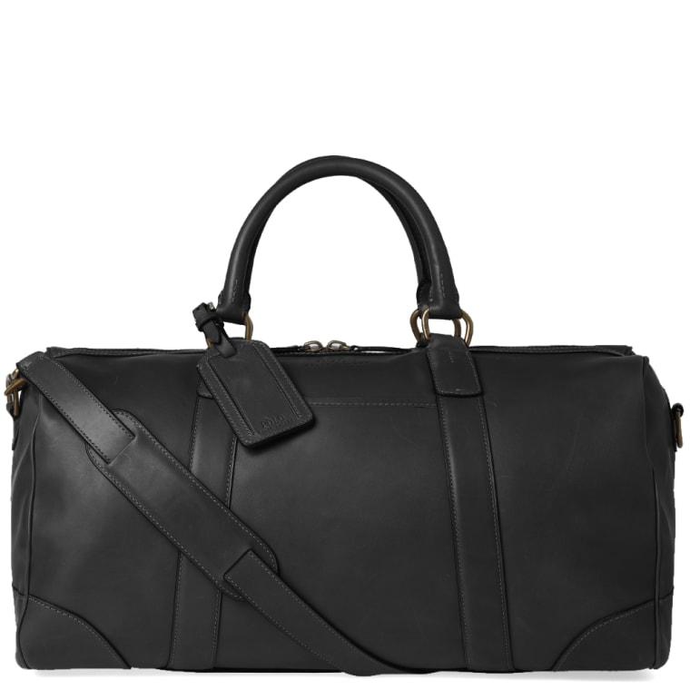 Polo Ralph Lauren Leather Duffle Bag Black 1