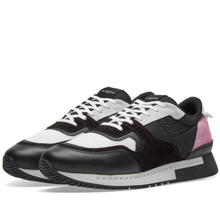 Raf Simons Pink & Black Active Runner Sneakers