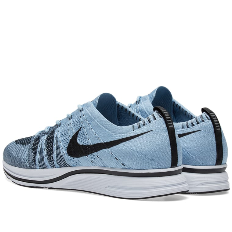 more photos 382f6 16cce ... sky blue pink Nike Flyknit Trainer Cirrus Blue Black ...