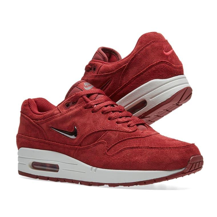 Nike Air Max 1 Premium SC (Team Red Metallic Dark Grey Dark Grey)