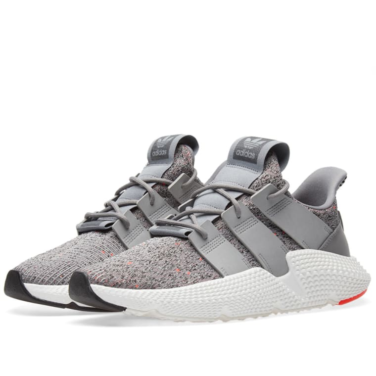 Adidas Prophere Grey White & Solar Red