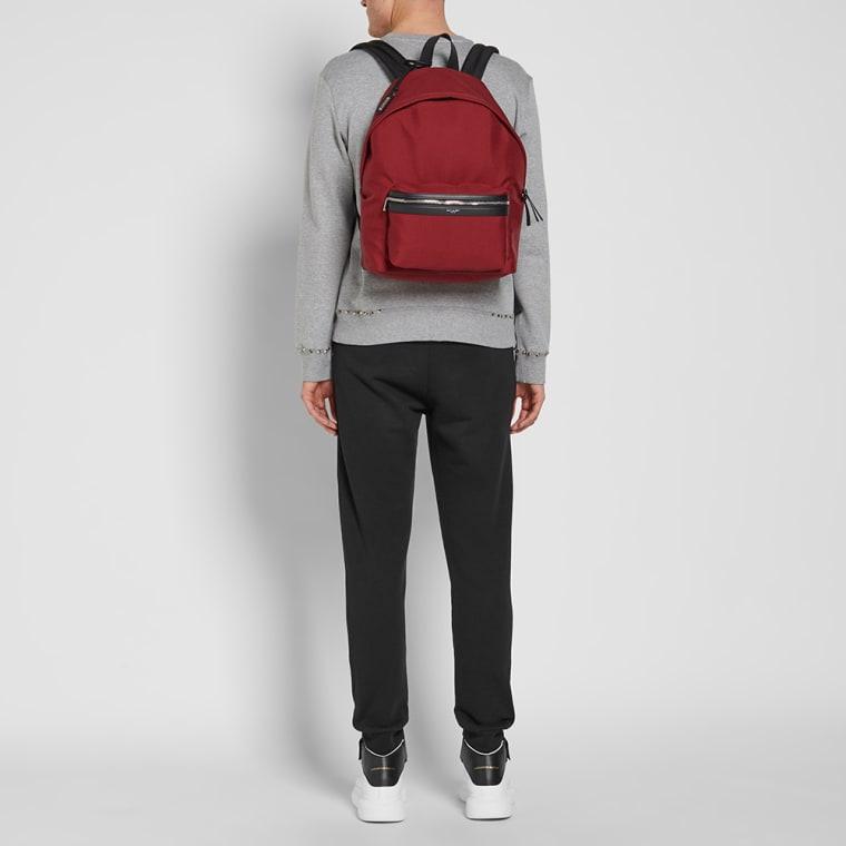 cf8c0c23c5 Saint Laurent Canvas City Backpack (Red)