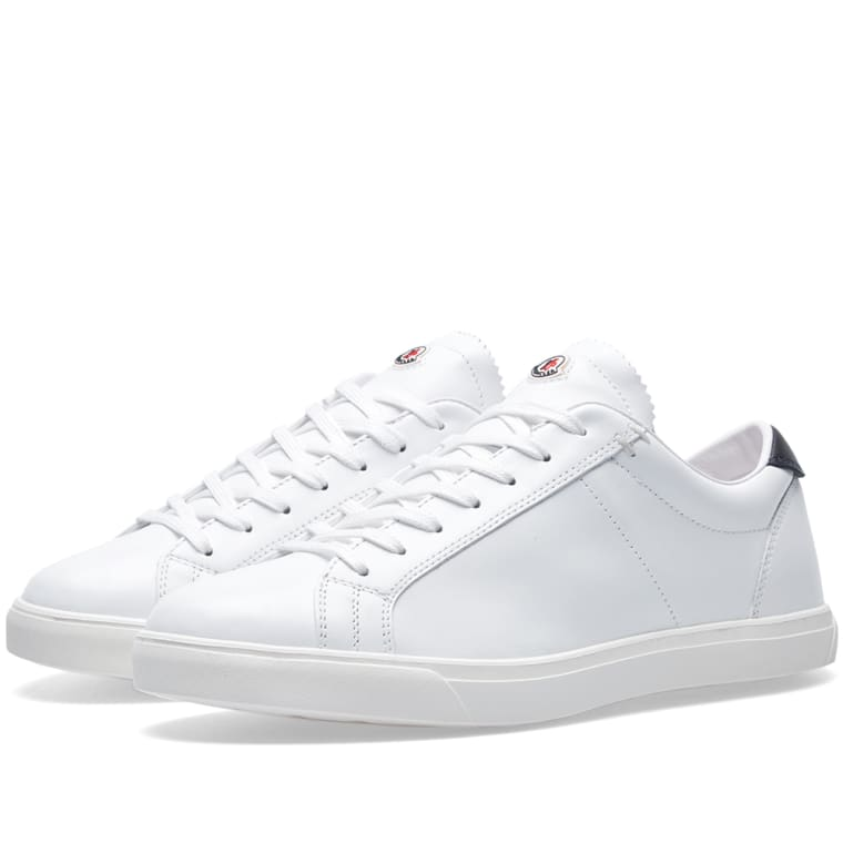 Sneakers for Women On Sale, White, Leather, 2017, 3 Moncler
