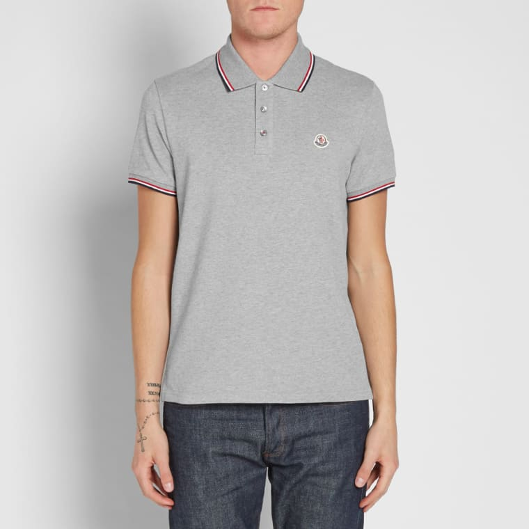 38fb25a99 lower price with ef39b 352f3 moncler tipped polo shirt 83456 00 ...