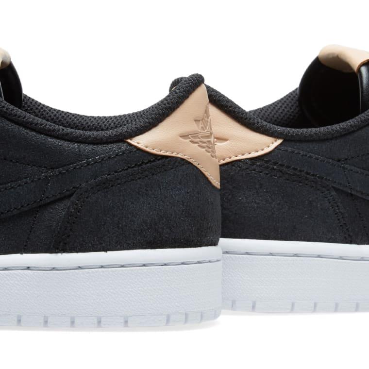 56121b90d5d09d Nike Air Jordan 1 Retro Low OG Premium (Black   Vachetta Tan)