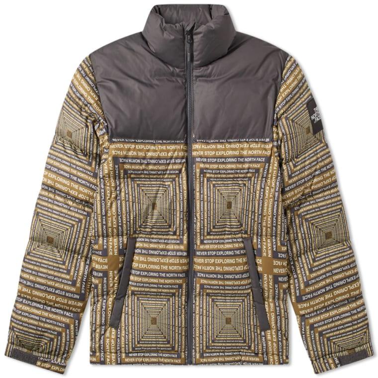 0996b8d0076d ... switzerland the north face 1992 nuptse jacket black geo print 1 9674b  33f9d