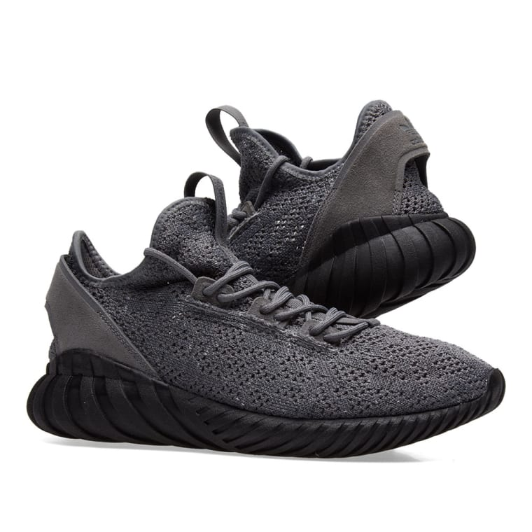 Adidas Tubular Doom Primeknit ( Black ) : ON FEET