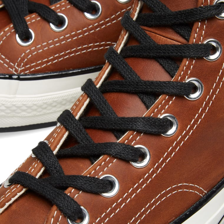 Converse Chuck Taylor 1970s Riri Zip Brown Leather End