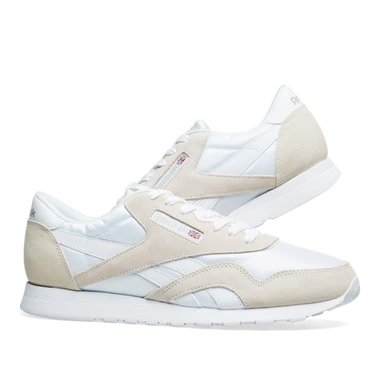 Reebok Classic Nylon OG White   Light Grey 7 5200ff87e