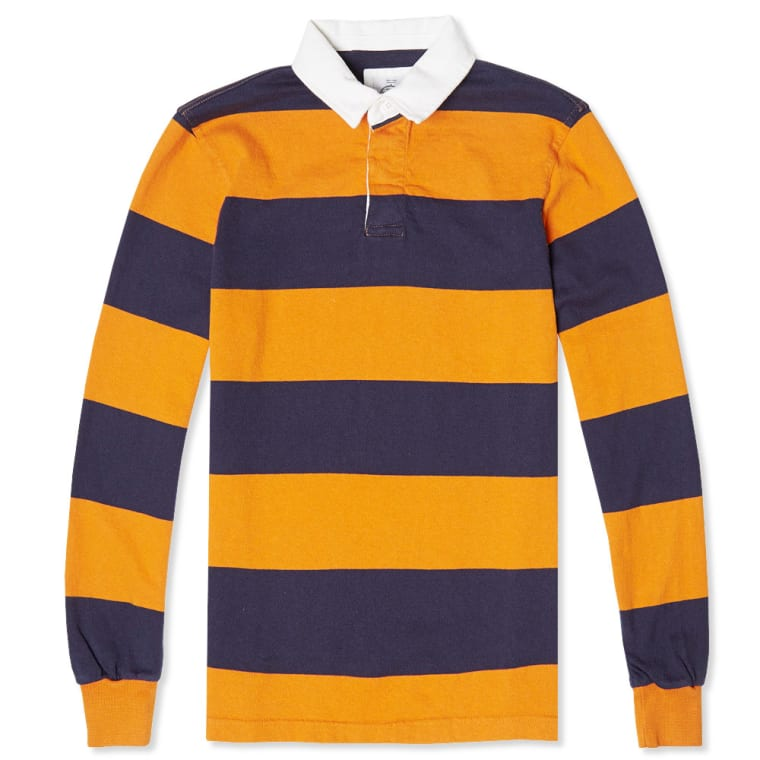 Barbour X Norton Sons Lowesoft Rugby Shirt Amber 3