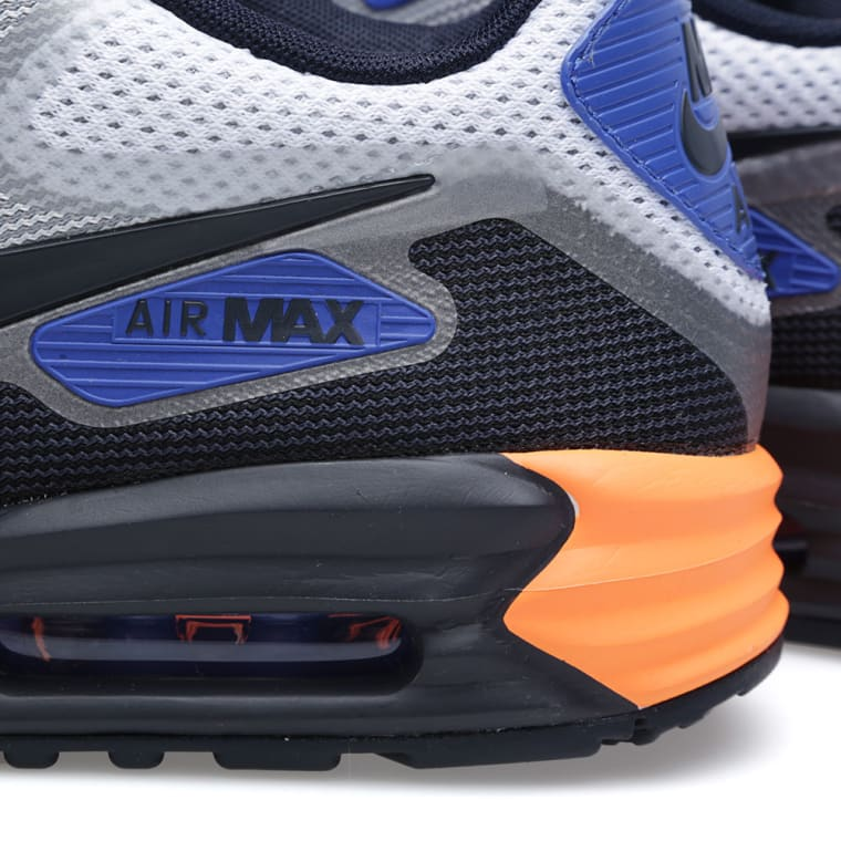 Nike Air Max Lunar90 Medium Grey Black Orange Blue