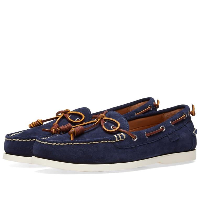 Polo Ralph Lauren Millard Boat Shoe Aviator Navy Suede 1