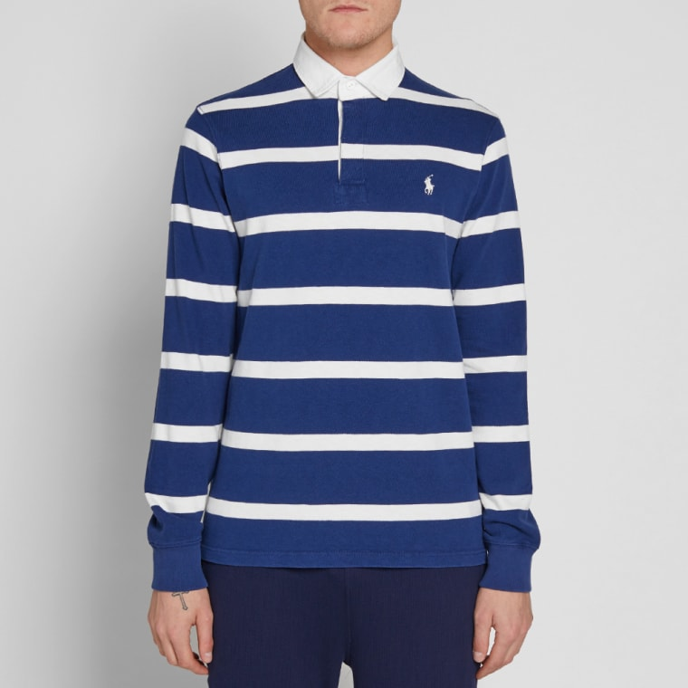 3286961e9c690 Navy Blue And White Striped Rugby Shirt - Rugs Ideas