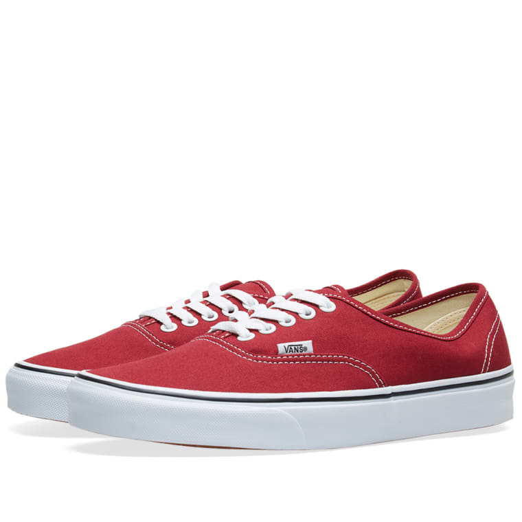 Vans UA Authentic (Rumba Red   True White)  43cff401e