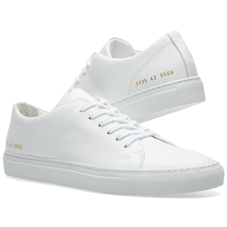 Black and White New Court Low Sneakers Common Projects