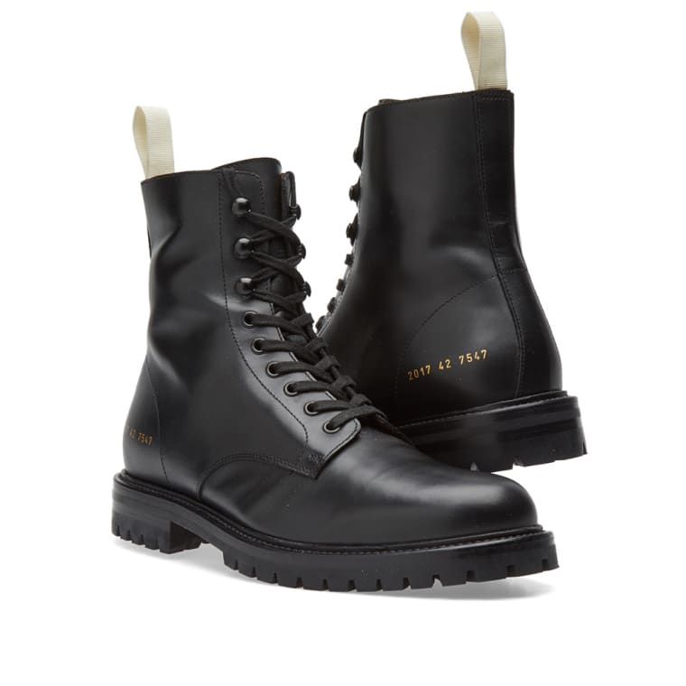 Common Projects Winter Combat Boot Black End