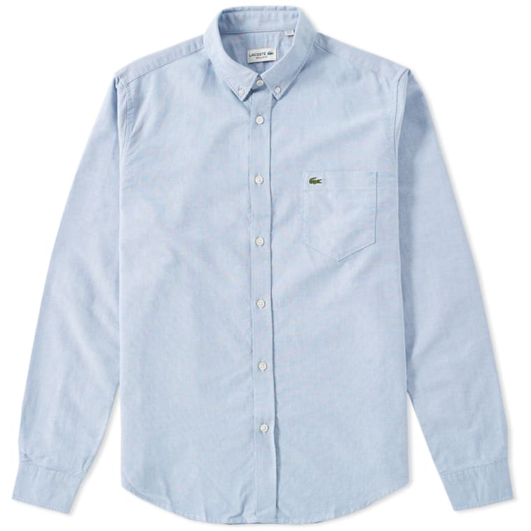 ac50ad489776b Lacoste Button Down Oxford Shirt (Officer)