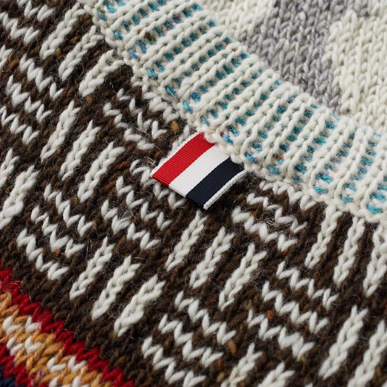 Thom Browne Fair Isle Hector Crew Knit (White) | END.