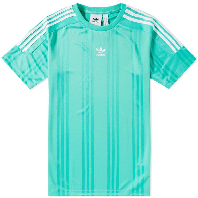 Adidas Jacquard 3 Stripe Tee (Hi Adidas Res 3 Res Green & White) | 0ea5bba - rogvitaminer.website