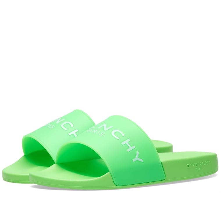 givenchy paris slide neon green end