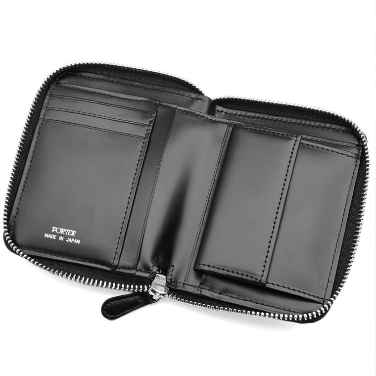 Porter-Yoshida   Co. Camo Zip Wallet (Woodland Black)  983088e42